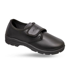 KayVee Boys Black School Shoes