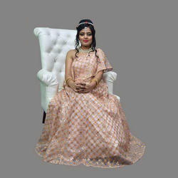 Beige Color Designer Embroidery Semi-Stitched Lehenga Choli