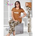Cotton Ladies Grey And Brown Printed Night Suits