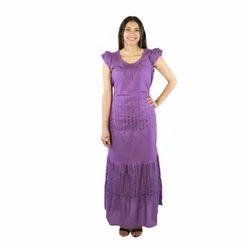 Ladies Violet Long Dress