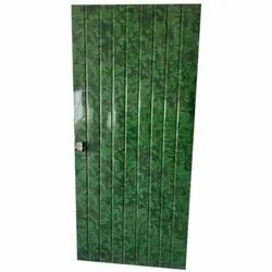 Polished Single Handed Leaves Printed Iron Toilet Door, Interior