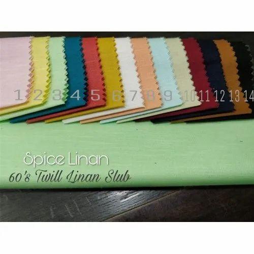 Linen Twill Slub Shirting Fabric