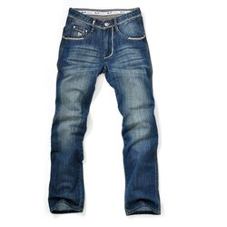 Button and Zipper Regular Fit Denim Jeans, Age Group: 18-60