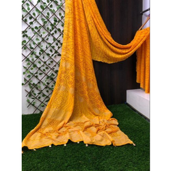 Designer Digital Printed Bandhani Saree