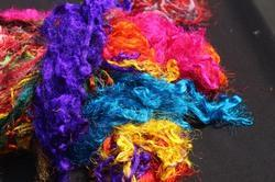 Recycled Sari Silk Fiber Waste
