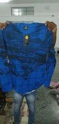Men Printed Blue Cotton T-Shirt