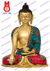 Lord Buddha Sakyamuni W/Out Base W/ Stone Statue