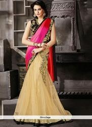 Silk Embroidered Lehenga Sarees