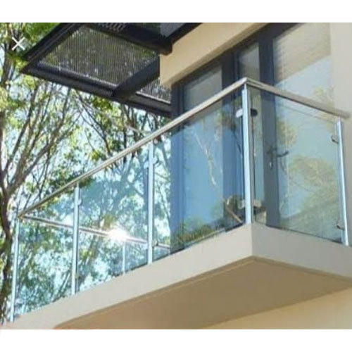 Stainless Steel Glass Balcony Grill Stainless Steel Balcony Grill