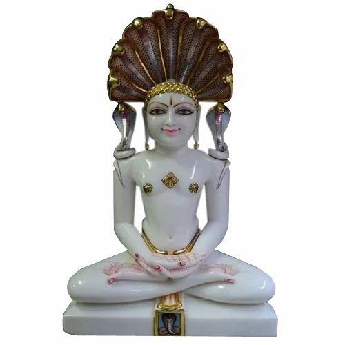 Marble Jain Statue Marble Lord Jain Parshwanath Statue