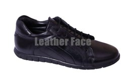 Men Leather Face - Casual Leather Sneakers