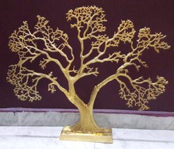 Golden Brass Tree, Size: 16 Inch