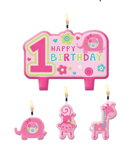 Amscan One Wild Girl Birthday Candles Set