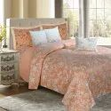 Floral Bloom Peach Bedding king