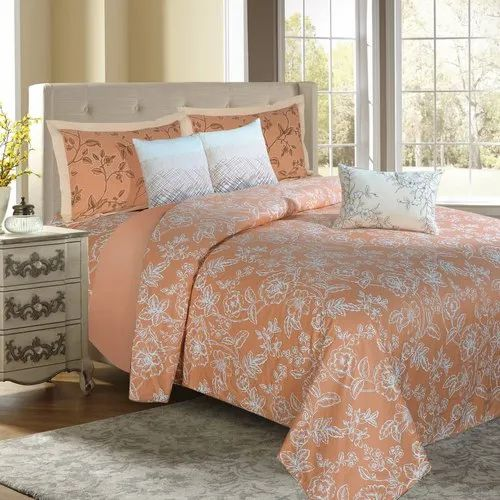Floral Bloom Peach Bedding king, For Home, Rs 4999 /piece Jayanita Exports  Private Limited   ID: 21911403097