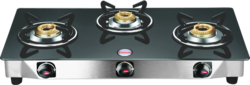 Sunflower Three Burner Glass Top Gas Stove suppliers in chennai