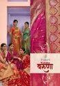 Red Banaras Silk Saree, 6.3 M (with Blouse Piece)
