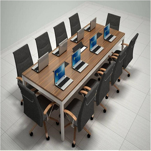 Wooden And Stainless Steel Seater Conference Table Rs - 10 seater conference table