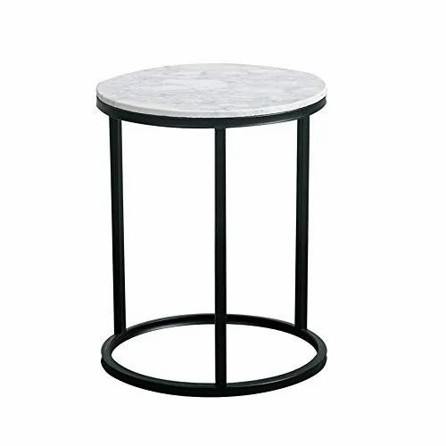 White Round Marble Side Table Rs 500 Square Feet Wasim Marble Id 20713060012