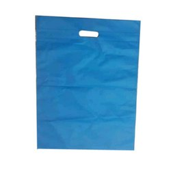 Blue Non Woven Plain D Cut Carry Bag, Capacity: 10kg