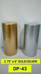 Golden & Silver Pillar Candle