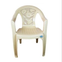 Neelkamal White Plastic Chair