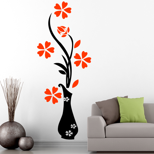 pvc vinyl floral wall sticker, rs 100 /square feet, walls & window