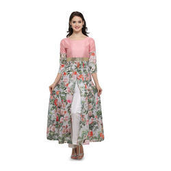 Floral Print Designer Kurta