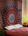 Cotton Wall Art Mandala Mandala Gypsy Printed Multicolor Ombre Bohemain Tapestry