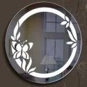 Glass Decorative Round Wall Mirror, Size: 36x36 Inch