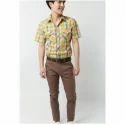 Light Brown Solid Formal Trouser