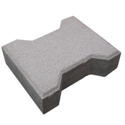 Gray I Shaped Concrete Paver Block, Thickness: 60 To 100mm, for Pavement