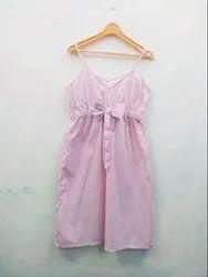Cotton Regular Wear Summer Dress, Size: 34