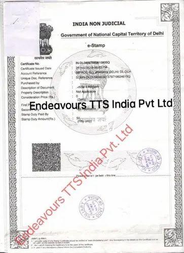 Single Status Affidavit Attestation in Mahipalpur Extension, New