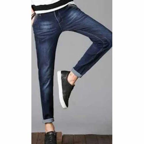 8c691d23344 Slim Fit Party Wear Mens Blue Denim Jeans