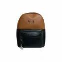 Black, Brown Leather Backpack