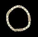 Momi Color Glass Beads With Silver Cris Disc Srtetch Bracelet