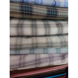 Checked Yarn Dyed Cotton Fabric, GSM: 100-150 GSM