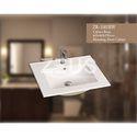White Ceramic 3001bw Counter Top Basin