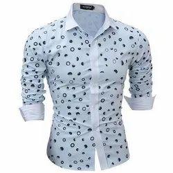 Cotton Collar Neck Men Printed Shirt