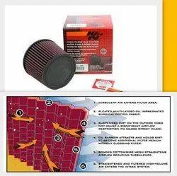 K&N Air Filter, Filtration Grade: Medium Filter, sport filter
