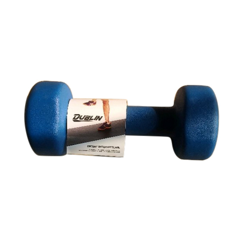 Fixed Weight 3 Kg Rubber Dumbbell For Gym
