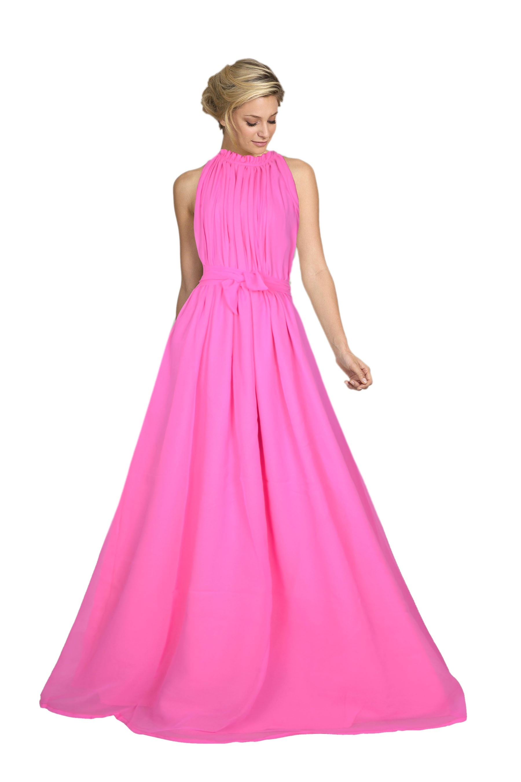 Georgette Party Wear Baby Pink Gown, Size: Medium And XL, Rs 549 ...