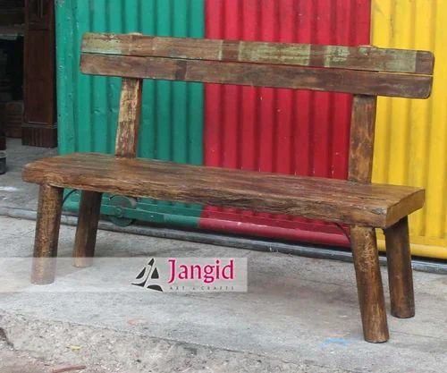 Marvelous Reclaimed Wooden Garden Bench Machost Co Dining Chair Design Ideas Machostcouk