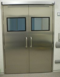 Colored Stainless Steel Hospital Door, Thickness: 25 Mm, Material Grade: Ss 304