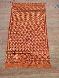 Hand Block Print Ajarak Cotton Durry Rug Carpet