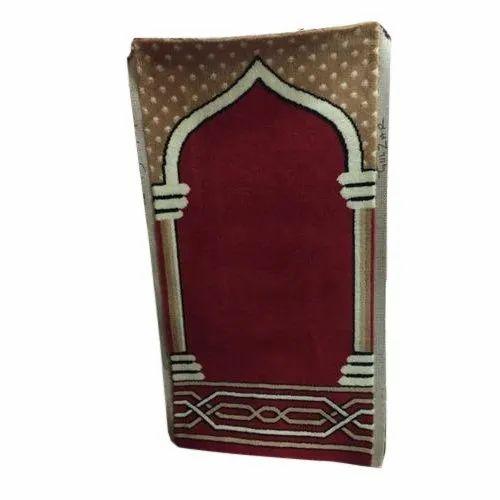 Multicolor Rectangular Designer Prayer Carpet, Size: 6x9 feet