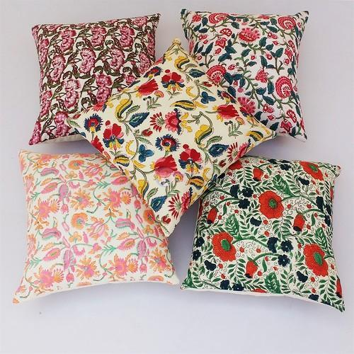 . Hand Block Printed Cushion Covers Pillow Case   printed cushions