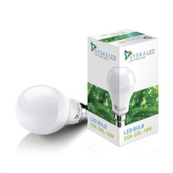 Round 18W Syska LED Bulb, Voltage: 220 V