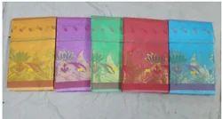 Silk Wedding Wear Women Kanchipuram Saree, With Blouse Piece